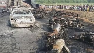 Over 130 killed by overturned tanker fire in Pakistan