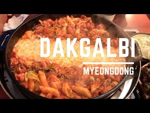 Korean Food: Dakgalbi - Myeongdong / spicy stir-fried chicken
