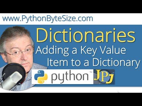 Adding a Key Value Item to a Python Dictionary