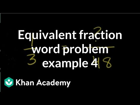 Equivalent fraction word problem example 4 | Fractions | Pre-Algebra | Khan Academy