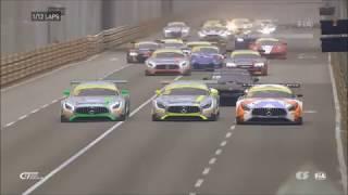 Huge start crash FIA GT World Cup 2017 at Macau Qualify