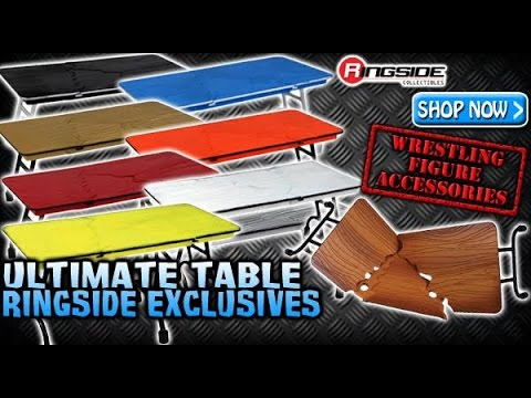 WWE FIGURE INSIDER: Ultimate Table 2016 - Ringside Exclusive Wrestling Action Figure Accessories