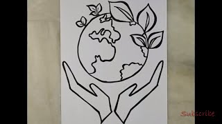 How to draw save earth drawing Videos - 9tube tv