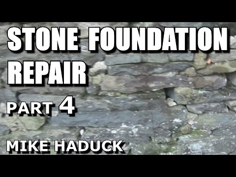 Stone foundation repair (inside) part 4 of 6 (Mike Haduck)