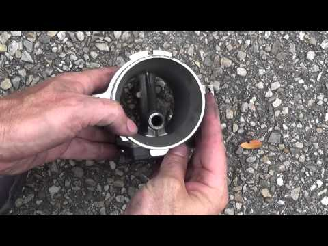 Mass air flow sensor (MAF) cleaning with brake cleaner