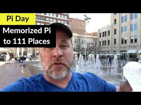 Pi Day I memorized Pi to 111 decimal places