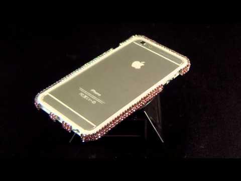Super Bling Bling Rhinestone Crystal Gems Diamond bumper case frame for iPhone 6 Plus (PK)