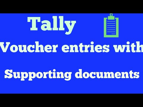 What is vouchers and how enter in tally erp9