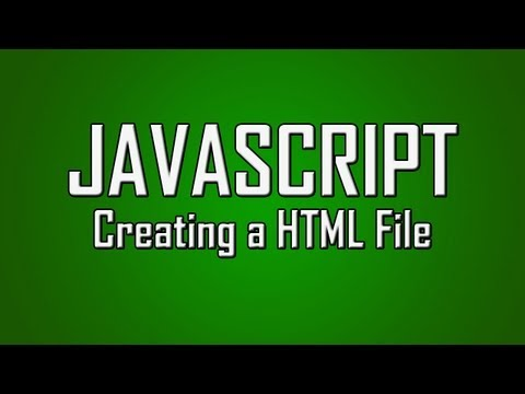 Learn JavaScript - #1 - Creating HTML File