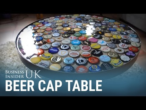 This bottle cap table was made over a weekend for £60