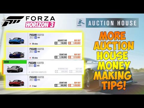 Forza Horizon 3 - AUCTION HOUSE MONEY MAKING METHOD! MORE TIPS!