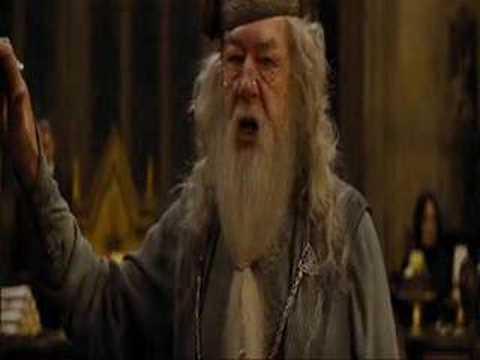 Dumbledore cursing At Daniel Radcliffe