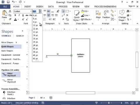 Chemical Engineering Block Flow Diagrams in Microsoft Visio