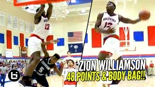 Zion Williamson 48 Points & DUNKS ON EVERYONE But The Coach!! Full Highlights