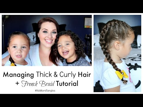 How I Manage My Kids' Thick & Curly Hair + French Beach Braid Tutorial