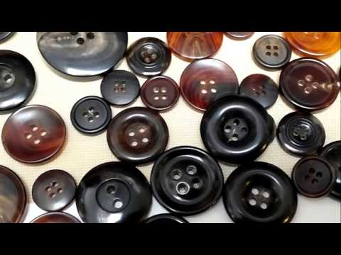 Natural horn clothing button with range size and pattern