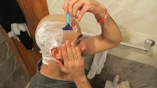 How To SAFELY Shave Your Head Bald Using A Razor Blade! (Balding For Beginners)