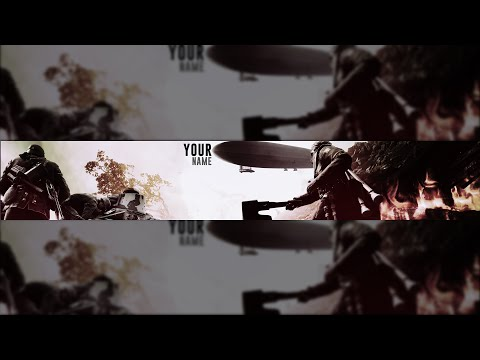 Battlefield 1 FREE YouTube Banner Template {Photoshop} + Download Link + Tutorial #5