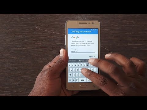 Easy Way To Bypass Google Account verification Samsung Galaxy Grand Prime