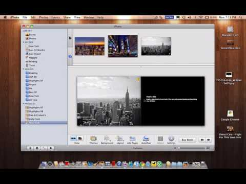 Mac Tips - How To Make An Photo Book On Iphoto