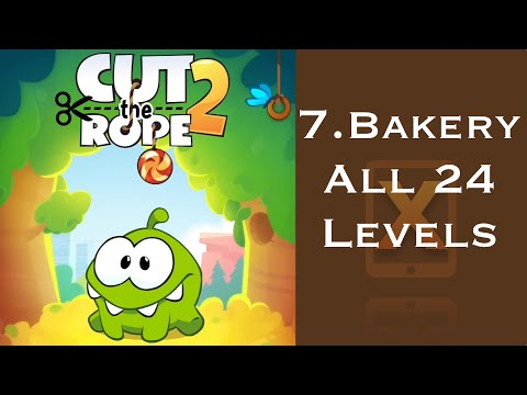 Cut the Rope 2 Walkthrough - All 24 Bakery 3 Stars + Medal