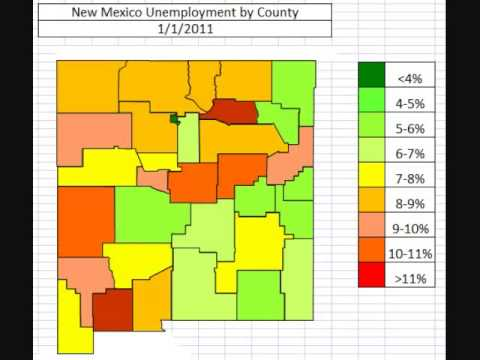 Map: New Mexico Unemployment October 2013