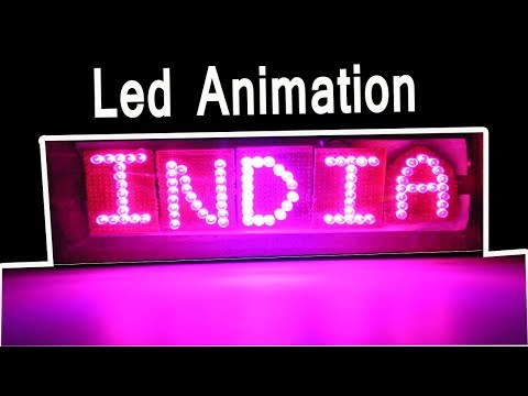 How to make animated led sign board at home