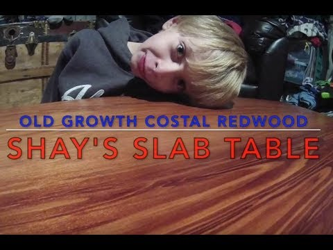 Old Growth Pacific Coastal Redwood Salvage Table