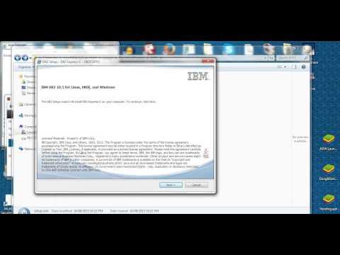 Install IBM db2 express database server C (v10.5) in Windows 7