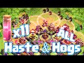 Clash Of Clans All Haste And Hogs Raid Super Fast Troops