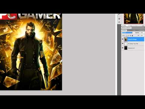 Photoshop CS5 - How to Make a PC Gamer Like Magazine Cover