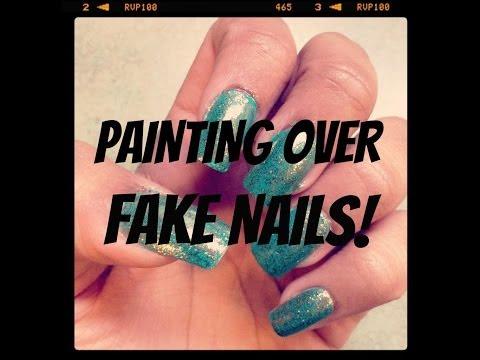 Painting Over Fake Nails | FunWithNayala