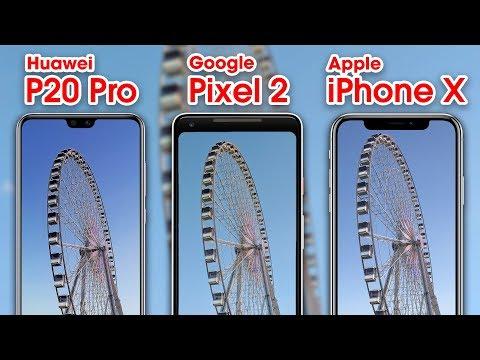 Huawei P20 Pro vs iPhone X vs Pixel 2 - Camera Comparison!