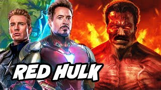 Avengers Endgame Red Hulk Scene - Alternate Red Hulk Origin Story Breakdown