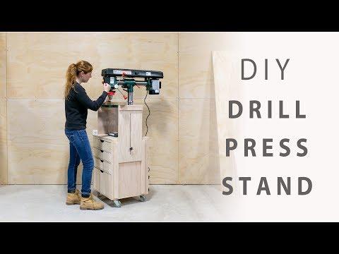 DIY Mobile Drill Press Stand