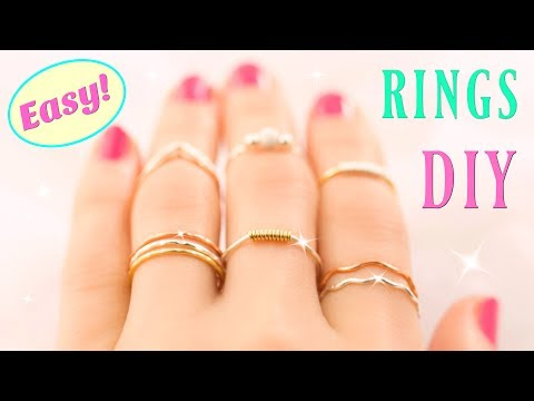 10 DIY Rings EASY & Adjustable!! How To Make a Ring | Easy Diy Rings