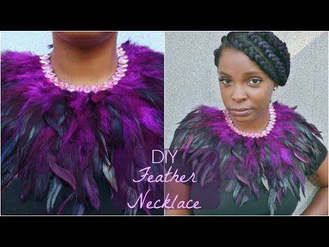 DIY Feather Collar Necklace