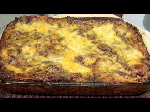 Easy Cheesy Beef Enchilada Casserole