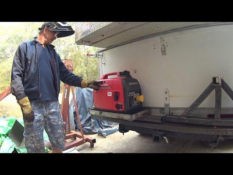 Box Camper Truck DIY Honda EU2000i Generator mount 62