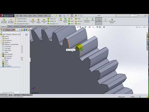 Equation Driven SMART Spur Gear in Solidworks (Metric Unit)