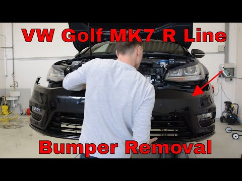 How to remove the front bumper VW GOlf MK7