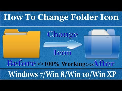 Change All Folder Icon One 1 Click in Windows 7, 8, 10, XP | To a Picture | Customize