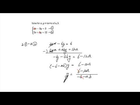 Solving System of Linear Equation by Elimination with unknown coefficients