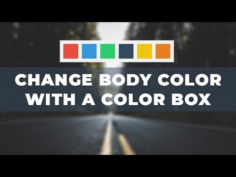 Change Body Background Color Using Color Box - Java Script