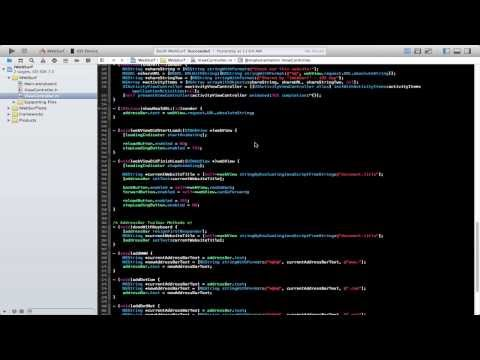 Making a iOS Web Browser -  Episode 1 - Xcode 5