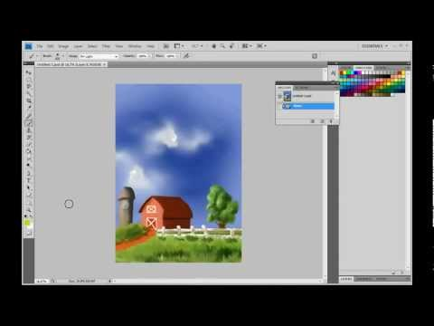 how to make grass in Photoshop, fast and simple