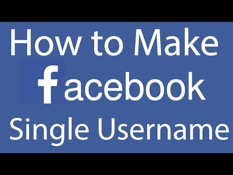 How to Make Facebook Username Single  - 2016
