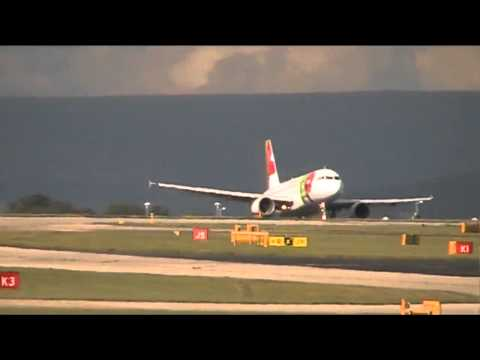 TAP Portugal A319 Inagural || Manchester Airport || Runway 23R