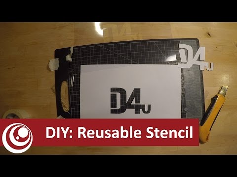 DIY - Make your own Re-usable stencil
