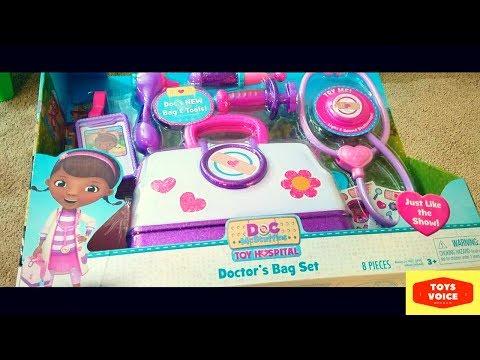 Disney Junior Doc McStuffins Hospital Bag Set Unboxing, Review & Fun Play | Toys Voice